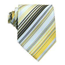 D.berite Blue Silk Striped Jacquard Men's Necktie Neck Tie Wedding Handmade F44