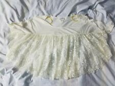 Free People XS Sheer Lace Floral Oversized  Blouse Top Cape Draped