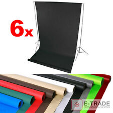 SET OF 6 - you choose colors - Photo Studio Background Backdrop 1.6m x 5m