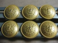 Set of 11 Eagle Gold metal buttons