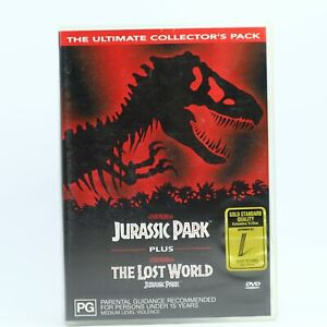 Jurassic Park 1 + 2 Lost World Jeff Goldblum DVD R4 GC