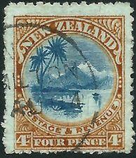 NEW ZEALAND - 1908 KEVII 4d 'BLUE & YELLOW-BROWN' GU SG379 Cv £60 [A2683]