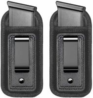 2-Pack Universal Magazine Holster IWB Clip Fits Any 7 10 15 Round Clips For Guns