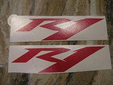 "#369 (2) 6"" Yamaha Logo Helmet Wheel Sticker Decal Vinyl Gloss RED R1"