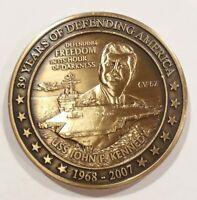 USS John F Kennedy Decommissioning Challenge Coin CV-67 JFK US Navy Retirement