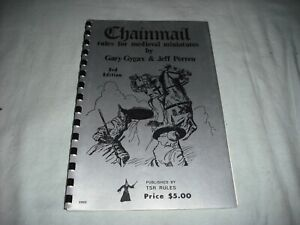 Chainmail: Rules for Medieval Miniatures by Gary Gygax 3rd ed. (1975) - TSR Game