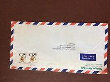 b1u ephemera stamped airmail franked 1983 new zealand 35c phipps rocol ltd auck