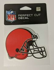 "Cleveland Browns 4"" x 4"" Helmet Logo Truck Car Window Die Cut Decal New Color"