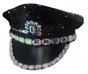 Bride to Be Flip Sequin Iridescent Jeweled Music Festival Captain Pride Hat