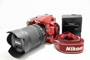 Nikon D3300 24.2MP Digital SLR Camera - Red (Kit w/ AF-S DX VR 18-105mm Lens)