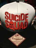 Suicide Squad THE FULL SQUAD Character SnapBack Hat. Brand New. One Size Fits