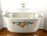 Corning Ware Abundance Bakeware Vtg 1991-1994 W/Pyrex Lid 5Lt Casserole Dish