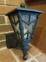 Antique Arts & Crafts Cast Iron Porch Light Sconce Herwig