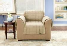 sure fit    Deluxe Comfort chair  Furniture Cover ivory