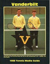 1988 Vanderbilt Commodores Men's & Women's Tennis Media Guide