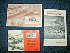 Three Vintage Model Railway Booklets Leaflets Dublo