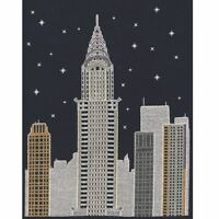 DMC Glow in the D'Architecture New York by Night Cross Stitch Kit Mr X Stitch