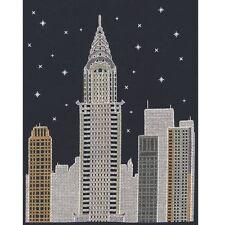 DMC brillare nell' d'architecture NEW YORK DI NOTTE CROSS STITCH KIT l'onorevole X Stitch