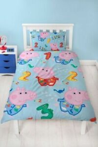 George Pig Bedding Set Peppa Pig Counting Rotary Duvet Reversible Kids Cover