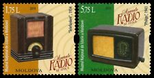 Moldova stamps! World Radio Day, Vintage Radio, MNH, 2019, 2v