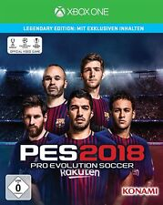 Xbox One Jeu PES 2018 Legendary Edition Pro Evolution Soccer 18 Football NEUF