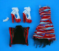 Meowlody - Zombie Shake Clothes Outfit for Doll - Jacket Dress Shoes and Fish
