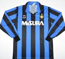 1990-1991 INTER MILAN Uhlsport Calcio Casa Maglietta (Taglia L)