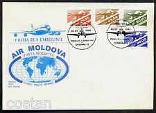 1993 TU-144,Russian Airplane,Flugzeuge,Avion,Turbo jet-plane,Moldova,Mi.63,FDC