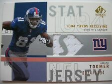 2001 SP AUTHENTIC STAT JERSEY AMANI TOOMER, GIANTS !! BOX 9