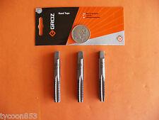 THREAD TAP SET, 3pc M10 x 1.5mmP TAPER INTER PLUG GROZ ENG. TOOLS ISO9001:2000
