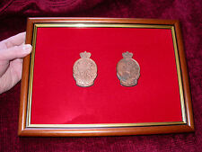Framed WW1 ANZAC Medal  displaying 2 medals ie obverse & reverse