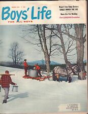 Boy's Life March 1961 Eagle Under the Ice, Bases Are For Running w/ML 011717DBE