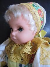 "Vintage 17"" Czechoslovakia Ethnic Folk Costume Art Doll By Lidova Tvorba  EUC"