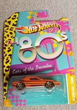 Hot Wheels Cars of the Decades The 80s Pontiac Fiero 84' #23 orange MOC