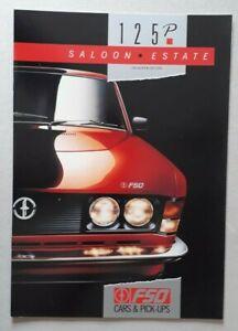 FSO 125p 1300 Saloon & 1500 Estate Brochure 1990