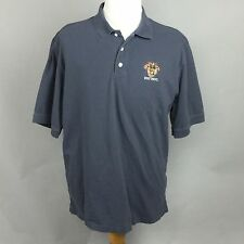 Mens WEST POINT Emblem Polo Rugby Shirt Short Sleeve Shirt Size L Dark Blue