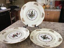 Set Of Three Vintage D'Art Tirage Reserve Fondee En 1789 Collectable Plates/Fran
