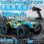 1/14 4WD 70km/h Electric RC Car Monster Truck Off Remote Control Road Vehicle