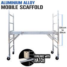 Mobile Aluminium Alloy Scaffold - Plywood Platform Hatch - Work Portable High