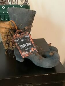 """Primitive Doll Halloween """"Witch Boots"""" 8"""" X 6 1/2"""""""