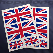 Union Jack Sticker Decals (x8)