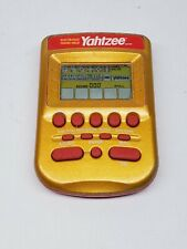 Milton Bradley Yahtzee Electronic Hand Held Game 2002 Red & Gold Tested/Working