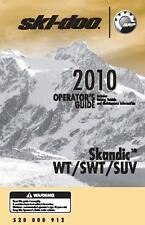 Ski-Doo owners manual book 2010 SKANDIC SWT
