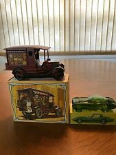 2 Collectible Avon Bottles - A 1965 Corvette and a Country Vendor
