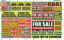 NH095 DAVE'S 1/2 Set N SCALE BIZ FOR SALE GOING OUT OF BUSINESS SALE SIGNAGE