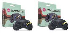 2 X (2.Pieces) 6 Buttons Game Controller For Sega Genesis Black Color
