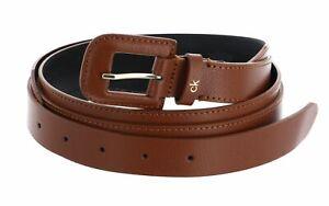 Calvin Klein Soft Neat High Waist Belt W100 Gürtel Accessoire Caramel Braun Neu