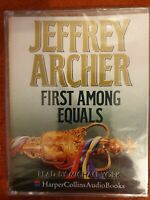 Jeffrey Archer First Among Equals New Sealed 2-Tape Audio Michael York  Thriller