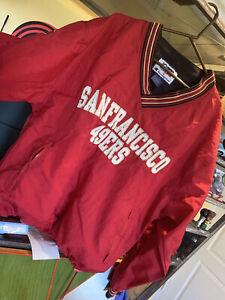 Champion San Fransisco 49ers NFL Pro Line  Windbreaker Jacket Men's Size 80s Vtg