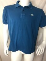 Lacoste Blue Short Sleeve Cotton Polo Mens Shirt Size 6 Large